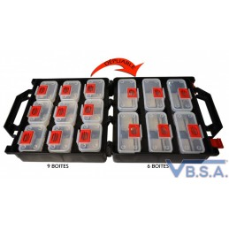 Clip storage tool box with 18 COMPARTMENTS