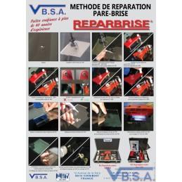 Poster Methode Reparation Pare Brise France