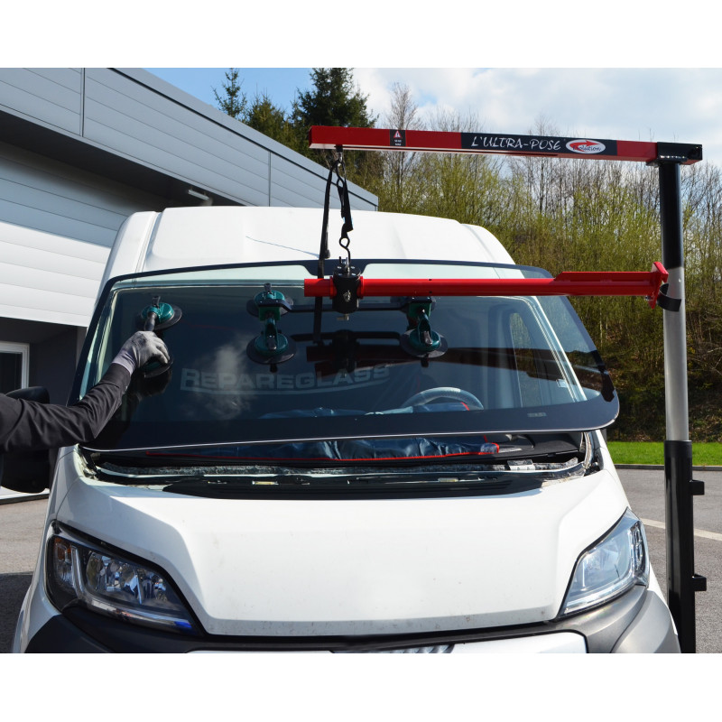 ULTRA-POSE EVOLUTION - NEW WINDSHIELD MOTORIZED FITTING/ LIFTING SYSTEM- SINGLE OPERATOR FOR CARS -