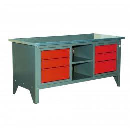 Etabli d'atelier à tiroirs