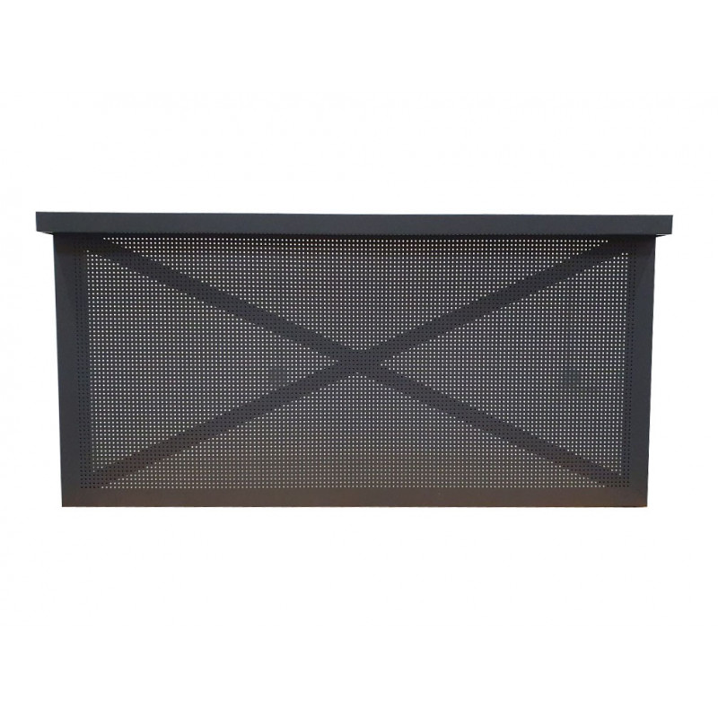 Wall frame panel with perforated steel