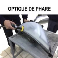 Repair and restoration plastic headlight