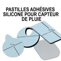 Silicone adhesive pads for rain sensor repair