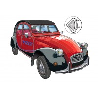 Hood for 2CV cars - Interior locking