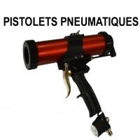 Air-powered caulking guns