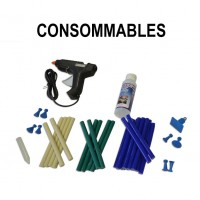 Consumables for dent removal kit