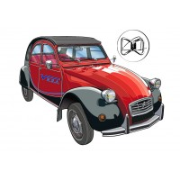 Hood for 2CV cars - Exterior locking